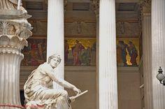 Vienna/Parlament Houses Of Parliament, Vienna, Greek, Spaces, Statue, City, Cities, Greece, Sculptures