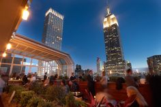 Top of the Strand - good for happy hour drinks on a summer night.  37th and 6th