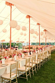 Sperry Tents: gorgeous tents for a wedding or any outdoor event