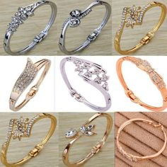 Stylish Fine Eight Styles Choices Fashionable Crystal Bangle Bracelet Jewelry | eBay