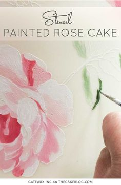 How to stencil-paint a cake | Tutorial by Gateaux Inc on TheCakeBlog.com