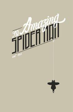 Spiderman by Joey Gessner Amazing Spiderman, All Spiderman, Bd Comics, Marvel Comics, Comic Book Heroes, Comic Books Art, Man Logo, Alternative Movie Posters, Spider Verse