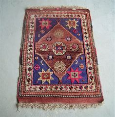 colorful boho rug vintage turkish carpet bohemian