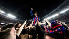 messi barcelona paris psg 6 1 champions wallpaper