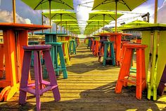 Colorful Sunset Pier -  Key West, Florida