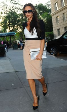 Petites: nude pencil skirt and short jacket.