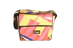 Cimbi bags and accessories are made from recycled materials. They are colorful, strong, unique and waterproof. Everyone needs a Cimbi! Recycled Materials, Lunch Box, Sporty, Pocket, Bags, Accessories, Handbags, Bento Box, Bag