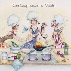 Cards » Cooking with a Kick » Cooking with a Kick - Berni Parker Designs