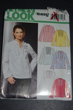 New Look 6298  Misses  Top Sewing Pattern  by DestinedRendezvous, $5.50
