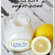 DIY Lemon Sugar Scrub. Click for more...