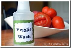 Do you wash your fruits and vegetables? Sometimes we do, sometimes we don't. Even though we aren't always diligent about it, it is a good habit to ge