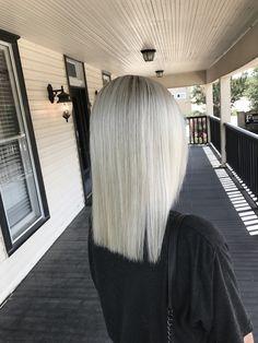 Icy Blonde Hair / Blunt cut #platinum #blonde #highlights #modernsalon #dfwhairstylist #iceyblonde #babylights