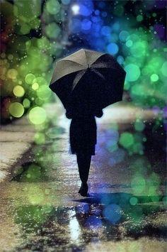 walking in rain with umbrella | walk in the Rain `:)