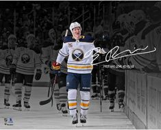 Rasmus Dahlin Buffalo Sabres Autographed x Handshake Line Photograph with NHL Goal Inscription - Limited Edition of 26 Stanley Cup Finals, Buffalo Sabres, National Hockey League, Nhl, Photograph, Goals, Sports, Photography, Hs Sports