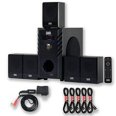 Introducing Acoustic Audio AA5104 Home Theater 51 Speaker System with Bluetooth and 5 Extension Cables. Great product and follow us for more updates!