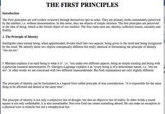 1. The Principle of Identity