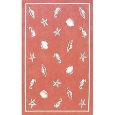 Coral colored seashell rug...possibility for the family room.