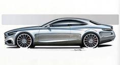 Mercedes-Benz S-Class Coupe, 2013 - Design Sketch