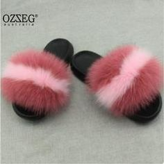 Women Fur Home Fluffy Sliders Fluffy Sliders, Fur Sliders, Cute Sandals, Sport Sandals, Sandals Outfit, Fluffy Shoes, Cute Slides, Pink Fox, Jeweled Shoes