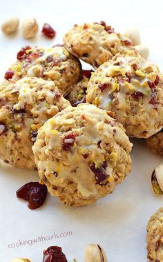 These Cranberry Orange Pistachio Cookies are loaded with flavor and are meant to be shared with family and friends! Cranberry Orange Cookies, Cranberry Bread, Cranberry Recipes, Holiday Recipes, Christmas Desserts, Christmas Baking, Christmas Cookies, Bakery Recipes, Cookie Recipes