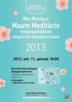 Are you in Budapest, Hungary?  Then, here! Where you should go for your peaceful mind is Maum Meditation Seminar !