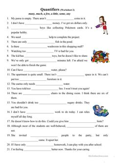 Quantifiers (many, much, a few, a little, some, any) 2