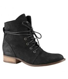 Aldo Prelidda almond toe lace up boots, Black