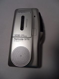 Olympus Pearlcorder S713 VCVA Handheld Microcassette Tap Recorder Player TESTED! #Olympus