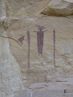 Pictographs (Native American rock carvings) - Eardley Canyon, Utah
