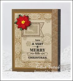 Inspired by Stamping, Holiday Sentiments, Vintage Postcards Add On I stamp set, Christmas card