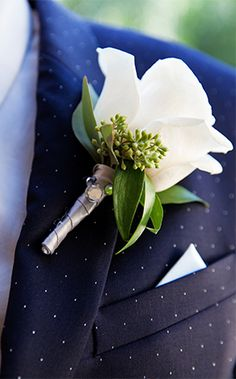 This tiny Mickey charm was a magical touch to this groom's boutonniere at Disneyland