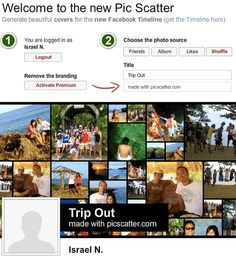 Pic Scatter: Generate Photo Collages For Your Facebook Timeline Cover