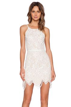 For Love & Lemons Guava Mini Dress in White | REVOLVE