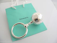 Tiffany & Co Silver One Sided Baseball Baby Rattle... I DIE.