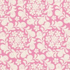 Pink Star Flower Fabric