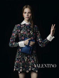 Sasha Luss for Valentino Fall 2013.  Photographed by Inez & Vinoodh.