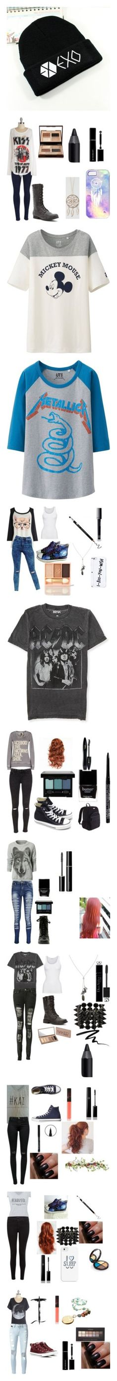 back to school by alicia-westmoreland on Polyvore featuring polyvore, fashion, accessories, hats, beanies, clothing, exo, beanie hats, style, rag & bone, Madden Girl, Charlotte Tilbury, Urban Decay, Givenchy, Full Tilt, tops, t-shirts, shirts, white, cotton t shirts, white cotton shirt, white short sleeve shirt, graphic tees, short sleeve tees, 3/4 length sleeve tops, graphic design t shirts, graphic print t shirts, graphic design tees, logo tee, ASOS, Glo Minerals, HVBAO, Banana Republic…