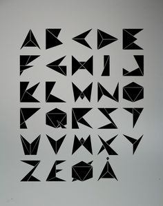 Cool type made of origami - Gami by Ole Fredrik Ekern, via Behance #typo