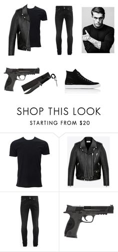 """""""My Big Bad Gang Leader"""" by leea40074 on Polyvore featuring Yves Saint Laurent, Alexander McQueen, Smith & Wesson, Common Projects, men's fashion and menswear"""