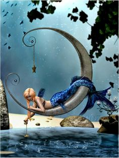 Mermaid on the moon. Great Reads from Exceptional Authors at http://wildbluepress.com. True crime, thrillers, mystery and business productivity books.