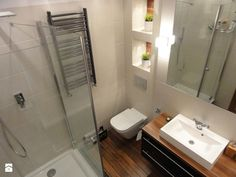 Łazienka - Mała łazienka bez okna, styl nowoczesny - zdjęcie od…