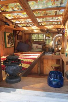 Why I like clear roofing in my tiny shacks/shelters/houses Tiny House Ideas Clear roofing shackssheltershouses Tiny Sheltered Housing, Tiny Spaces, Tiny House Living, Gypsy Living, Cabins In The Woods, Little Houses, Small Houses, Small Cottages, Play Houses