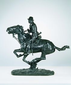 Art Liberal Signed Remington Native American Indian Riding Horse Bronze Sculpture Statue Art Good Reputation Over The World
