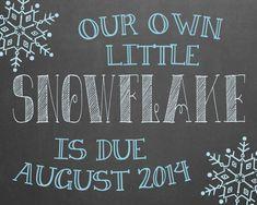 Snowflake/Winter Wonderland Themed Pregnancy by MMasonDesigns, $15.00