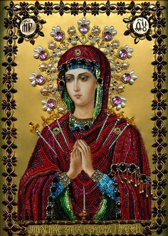 WELLCOLOR New Picture religion our lady Saint Maria Icon Mazayka Diamond Painting Diy round Diamond Embroidery for church Blessed Mother Mary, Divine Mother, Blessed Virgin Mary, Religious Icons, Religious Art, Religious Paintings, Religious People, Religion, Our Lady Of Sorrows
