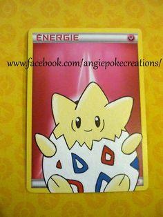 Création Carte Custom Pokemon, Peinture sur Carte Énergie : Togepi