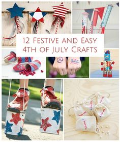 12 Festive and Easy 4th of July Crafts.