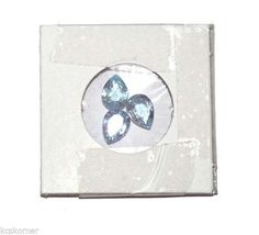 Lot of Three Natural 6mm x 8mm Pear Faceted Blue Topaz Gemstones