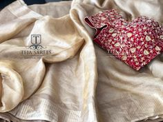 Gold tissue saree with an exclusive hand worked contrast pearl worked blouse !For orders/queriesCall/… - Gold Silk Saree, Tussar Silk Saree, Sari Blouse Designs, Blouse Styles, Saree Dress, Saree Blouse, Teja Sarees, Checks Saree, Online Shopping Sarees
