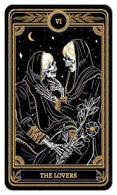 The Lovers from the Major Arcana of the Marigold Tarot - Kickstarter #tarotcards
